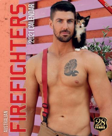 2021 Firefighters Calendar 'Cat Calendar' (Firefighters & Cats)